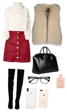"""Untitled #2"" by georgia-gr-1 on Polyvore featuring Boohoo, Christian Louboutin, Ann Demeulemeester, SWILDENS, Givenchy, Gucci and EyeBuyDirect.com"