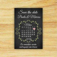 Save the date -Pré convite com imã 28