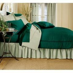 "Reversible Solid Color Comforter, Hunter Reversing to Sage Green , Twin Size by Madison Ind.. $29.98. Twin size measures 66"" x 86"". Machine Washable. Reversible Solid Color Comforter, Hunter Reversing to Sage Green. Save 25%!"