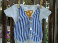 Ultra Comfortable Baby Boy Dressy Tie Onesie by UltraVioletGirl, $22.00