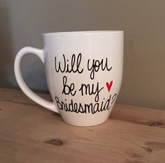 Will You Be My Bridesmaid bridal party mug by simplymadegreetings