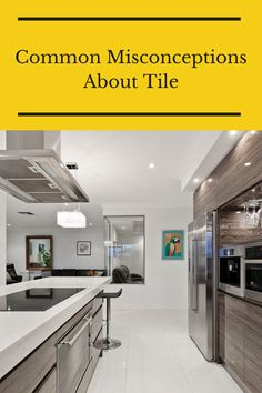 Tile flooring can have a bad reputation. But everything you hear isn't always true. That's why we are debunking these common msiconceptions about tile. Flooring 101, Tile Flooring, Tile Floor