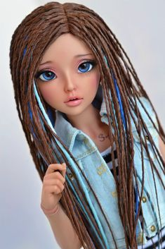 (4arllin) Tags: alpaca dreadlocks doll tan wig moe bjd fairyland celine mnf minifee