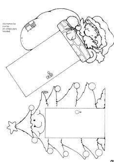 Menta Más Chocolate - RECURSOS PARA EDUCACIÓN INFANTIL: Manualidades: Marcapaginas de Navidad