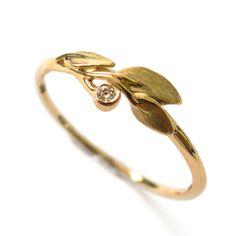 Leaves Diamond Ring No. 1  18K Gold and by DoronMeravWeddings