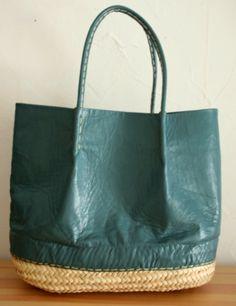 Basket and Leather Bag
