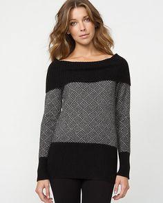 Angora Blend Intarsia Sweater