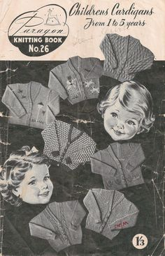 Vintage Children's Cardigans Knitting Book