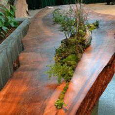 bancadas de tronco de madeira - Pesquisa Google