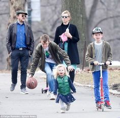 Family time: On Tuesday, Australian actress Cate Blanchett was back in mum mode as she and playwright husband Andrew Upton took their children to Central Park