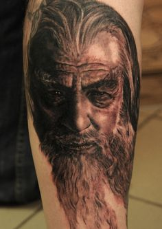 Gandalf Lord of the Rings Tattoo by Andy Engel