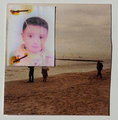 Sahin Celikten - Übermalte Fotografie - Aylan Kurdi - Flüchtlinge - Flucht