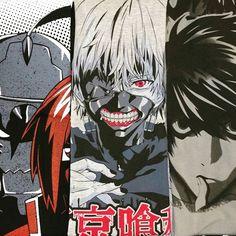 Nuevos Diseños  ¡Disponibles en www.kingmonster.com.mx y en las Monster Stores! ✌ #fullmetalalchemis #TokyoGhoul #DeathNote #Kingmonster #otaku #cool #nice #instalike #instagood #vscocam #picoftheday #EdwardElric#AlphonseElric #Kaneki#ellelawliet#Playera #Tshirt#Manga#Anime
