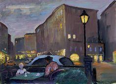 © Felix Albrecht Harta -Evening in the old market (c. 1950)