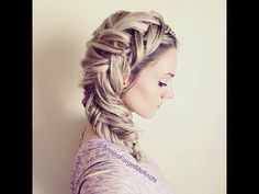 How to: Dutch Fishtail Braid (Elsa Hair) - YouTube   i think that with a little practice i could pull this off.... Really cute!!