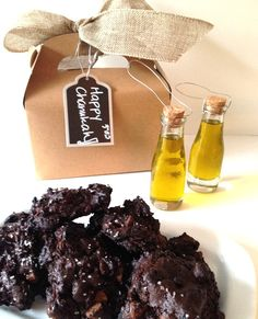 Olive oil chocolate cookies perfect for Hannukah