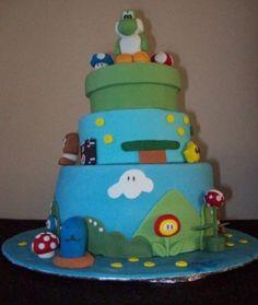 My son Jordan's 15th Birthday cake with Yoshie on top