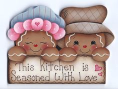 Seasoned with Love Gingerbread Painting E-Pattern