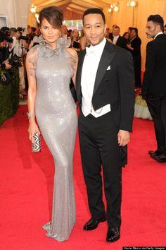 Chrissy Teigen and John Legend at the Met Ball