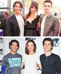Tyler Posey, Crystal Reed and Dylan O'Brien