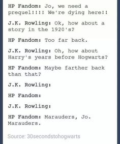 The cursed child was a disappointment for me and really??? FBWTFT was good bUT THE MARAUDERS