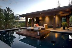 floating deck over pool - Buscar con Google