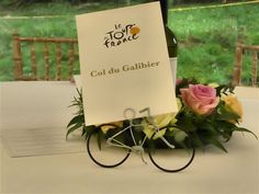 Wedding Bicycle table number holders by Wirebicycles on Etsy  $7.78/each + $13 shipping