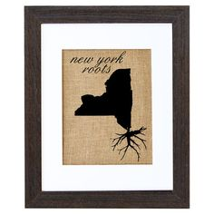 Equally at home in an artful collage or on its own as an eye-catching focal point, this hand-pressed burlap print showcases a New York-themed motif. Made in ...