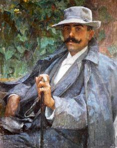 Edgar Maxence (French symbolist painter) 1871 - 1954, Donatien Boquien, 1898, oil, s.l.
