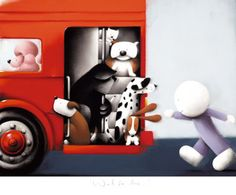 Wait for me by Doug Hyde from his new summer collection Bold Bright & British available at http://www.smartgallery.co.uk/artworks/doughyde004