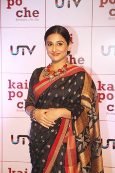 Vidya Balan at KAI Po Che Movie Premiere.