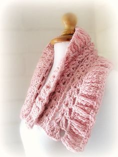 Direct Download PDF pattern crochet Pink cowl scarf by 7Knits