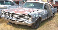 1967 rusted Ford  2 door Hardtop Custom ?