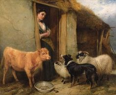 CLASSIC SCOTTISH SHEPHERD PAINTING | ... few paintings - usually it's mainly black and tans in old paintings