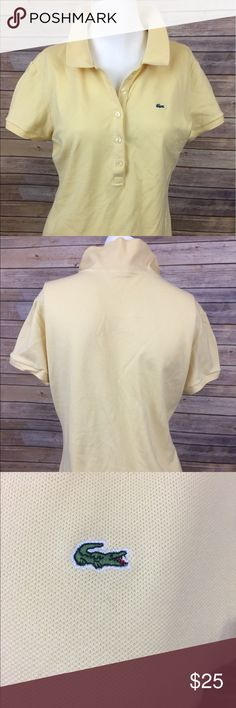 Lacoste Polo Shirt Yellow Lacoste Polo Shirt size 44. Lacoste Tops