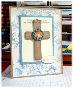 Use wood grain embossing folder for cross