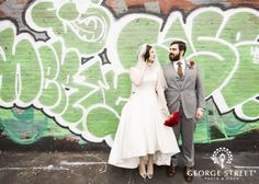 A graffiti backdrop is modern, chic and completely eye-catching!