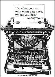 beautiful pen and ink rendering of an old typewriter . I still have mine and works. Rotulação Vintage, Images Vintage, Vintage Labels, Vintage Pictures, Vintage Market, Vintage Typewriters, Vintage Suitcases, Vintage Luggage, Digi Stamps