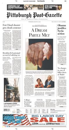Pittsburgh Post-Gazette, published in Pittsburgh, Pennsylvania USA
