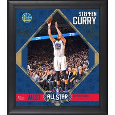 "Stephen Curry Golden State Warriors Fanatics Authentic Framed 15"" x 17"" 2017 NBA All Star Game Collage"