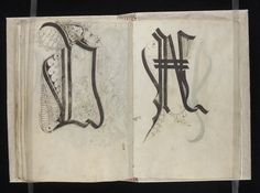 A medieval pattern book for scribes composed of two parts and dating from around 1510 and hailing from Swabia, Germany - including lots of wonderful calligraphy.