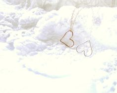 Gold Heart Necklace / Everyday Gold by SimplyLovelyHandmade