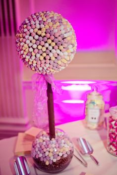 Sweet tree made of mini eggs as the centerpiece. Image by www.lolarosephotography.com