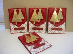 (Country) Gift Card Holder by D. Daisy - Cards and Paper Crafts at Splitcoaststampers Christmas Gift Card Holders, Christmas Tree Cards, Xmas Cards, Holiday Cards, Christmas Crafts, Gold Christmas, Christmas 2019, Gift Cards Money, Advent