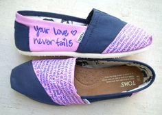 Love is Patient 1 Corinthians 13 and Your Love Never Fails Jesus Culture Lyrics Custom Made TOMS