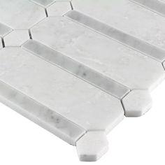 MosaicTileOutlet Random Sized Marble Mosaic Tile in Gray/White Ceramic Mosaic Tile, Mosaic Wall Tiles, Marble Mosaic, Stone Mosaic, Mosaic Glass, Carrara Marble, Tile Covers, Marble Wall, Marble Floor