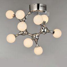 Brief modern ceiling light bedroom lights glass lamp dna art light machine dog lamps la10