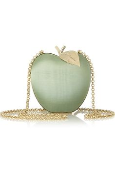 Apple satin bag pinned with Bazaart
