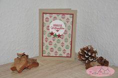 Stampin' Up! beim ZettelZirkus: Weihnachten, Sterne, Chili, Gartengrün, Weihnachtskugeln, Gemütliche Weihnachten,