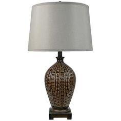 Anzio Brown Ceramic Table Lamp -
